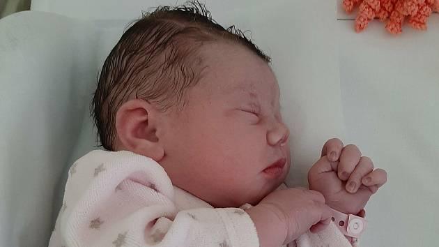 Anna Jennifer Ellisová, Radotín, narozena 13. října 2020 v Přerově, míra 50 cm, váha 3504 g
