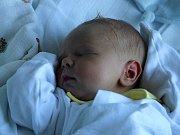 Jan Pospíšil, Výšovice, narozen 7. září v Prostějově, míra 49 cm, váha 3250 g