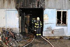 Požár skladovacích prostor v Prostějově