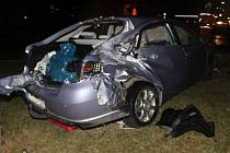 Nehoda vlaku s osobním vozidlem v Kostelci na Hané, čtvrtek 14.3. 2019
