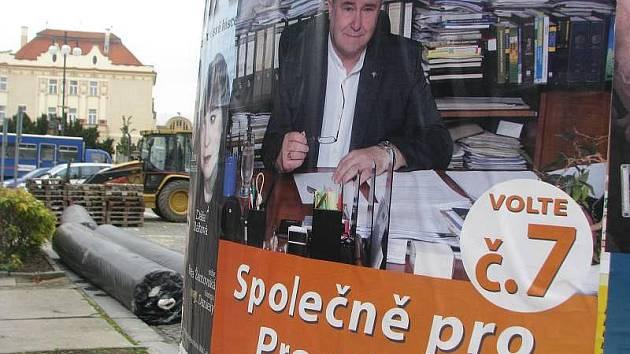 Volební kampaň v Prostějově
