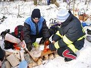 Mladí hasiči na Zlaté vařečce v Drahanech