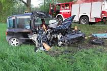Havárie Fiatu Multipla mezi Krakovcem a Bohuslavicemi na Prostějovsku