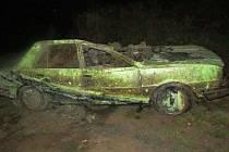 Auto nalezené v mohelnickém Bagru