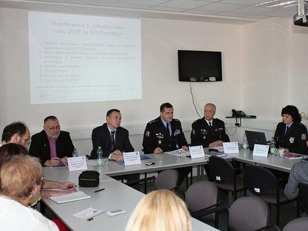 Tisková konference prostějovských policistů - 29.ledna 2015