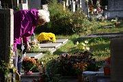 Dušičkové období na Městském hřbitově v Prostějově