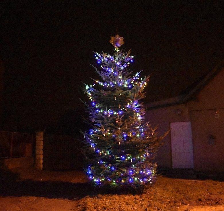 Vánoční strom 2020 v Domamyslicích