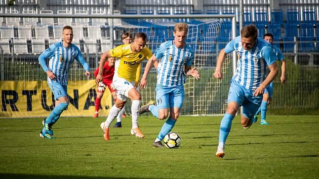 Fotbalisté Prostějova remizovali v domácím utkání F:NL s Jihlavou 1:1.David Píchal, Jan Koudelka
