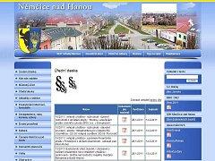Web města Němčice nad Hanou