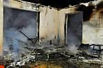 Požár rodinného domu ve Smržicích