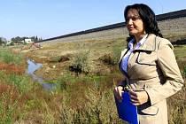 Gabriela Tomíčková na plumlovské přehradě