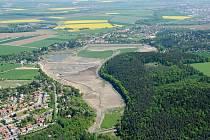 Plumlovská přehrada v době revitalizace