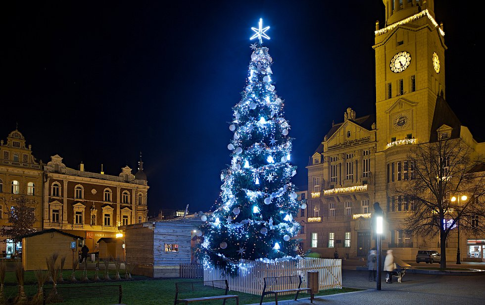 Vánoční strom 2020 v Prostějově.