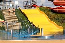 Aquapark v Prostějově uprostřed srpna