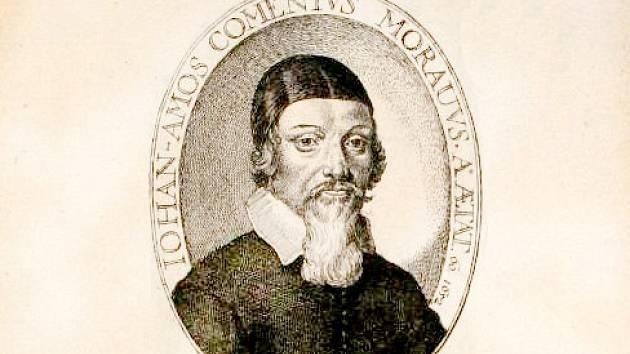 George Glover - Jan Amos Komenský, A Reformation of Scholees, ryto vLondýně v roce 1642 (Praha, Národní knihovna České republiky) – nejstarší známé a dochované vyobrazení Komenského