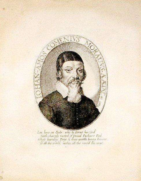 eorge Glover - Jan Amos Komenský, A Reformation of Scholees, ryto vLondýně v roce 1642 (Praha, Národní knihovna České republiky) – nejstarší známé a dochované vyobrazení Komenského