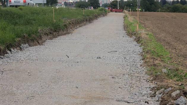 Stavba cyklostezky do Žešova