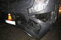 Srážka náklaďáku se srncem na D46