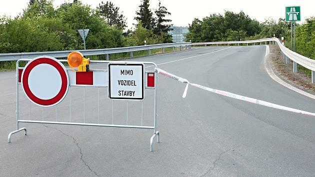 Plánovaná rekonstrukce dálničních nájezdů u Olšan