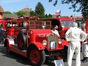 Hasičská historická jízda v Horním Štěpánově