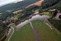 Bagrování Podhradského rybníka v Plumlově