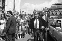 28. května 1990. Návštěva Václava Havla v Prostějově
