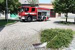 V Němčicích se vylila z břehů Žlebůvka a zaplavila na třicet domů. 14.6. 2019