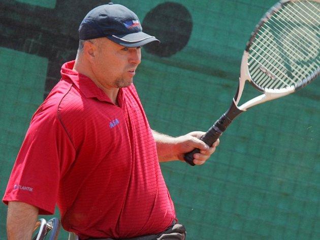 Michal Stefanu (ČR). Domácí dvojka žebříčku tenisu na vozíku