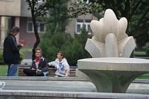Náměstí Spojenců v Prostějově - středa 1.6. 2011 v pozdním odpoledni