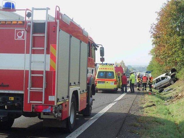Nehoda  na R46. Ilustrační foto