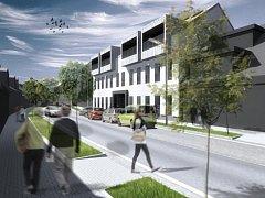 Vizualizace nízkoenergetického bytového domu v Mlýnské ulici