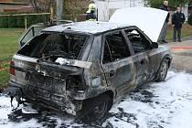 Vyhořelá felicie v Pavlovicích u Kojetína