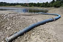 Čerpání vody z laguny