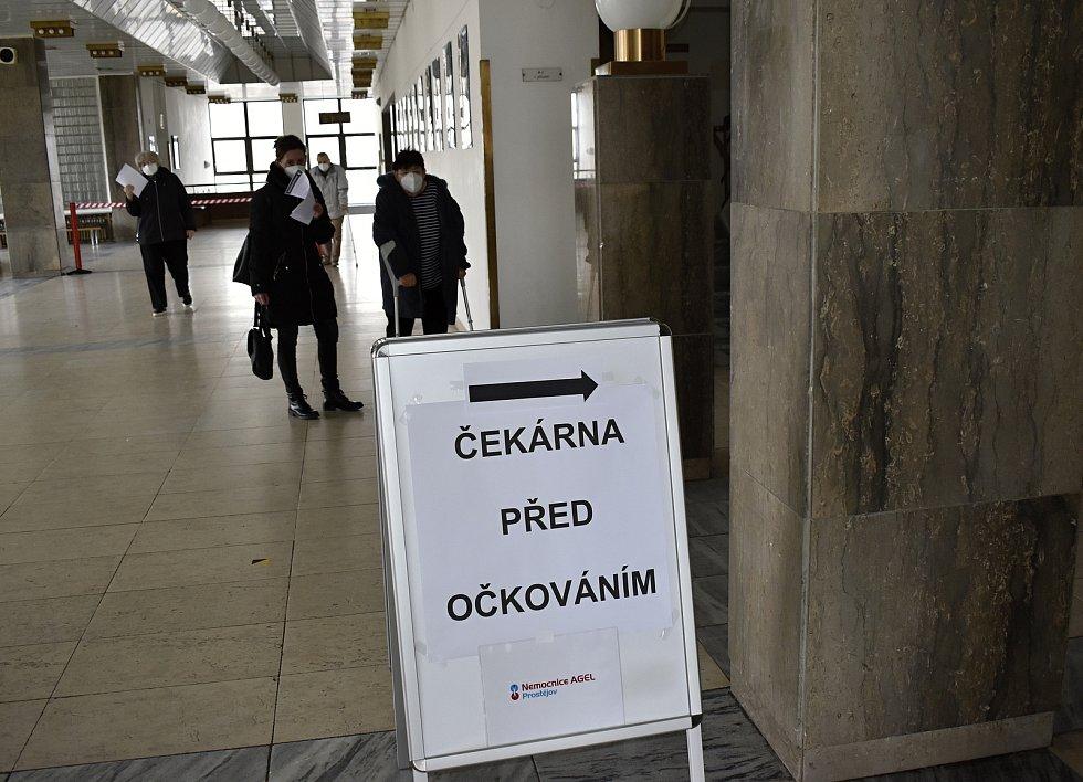 Očkovací centrum v prostějovském KaSku