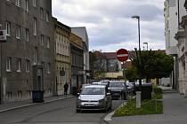 Jednosměrka ve Vodní ulici v Prostějově