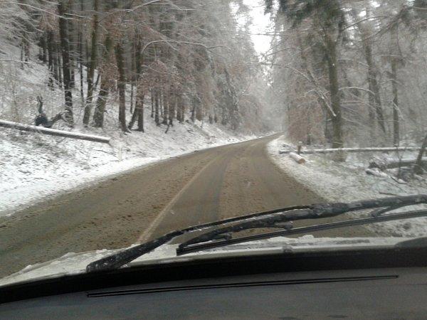 Ledovka, námraza a sníh na Drahansku - 2.prosince 2014
