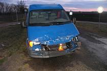Nehoda na přejezdu u Smržic