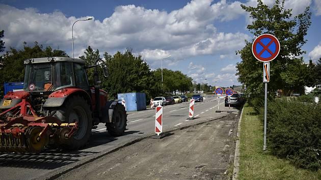 Budování cyklostezky v ulici Josefa Lady v Prostějově - 9. 9. 2020