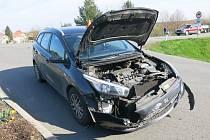 Úterní odpolední nehoda v křižovatce pod D46 se naštěstí obešla bez zranění.