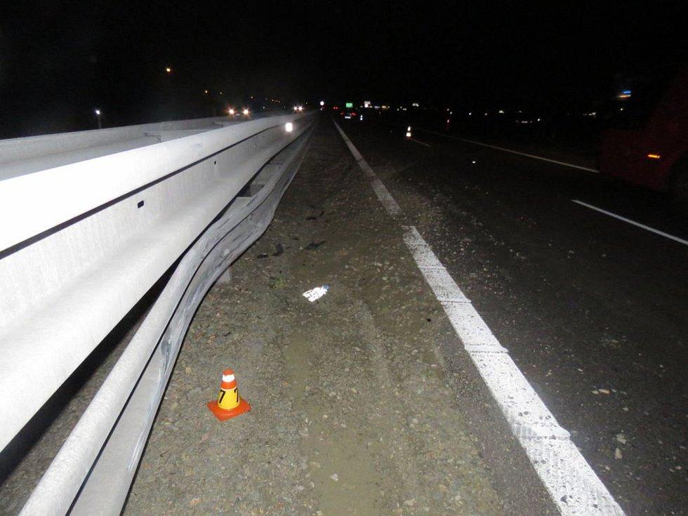 Srážka auta se psem na dálnici D46