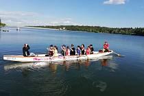První letošní trénink na Plumlovské přehradě