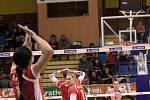 VK Agel Prostějov - KP Brno. Druhé semifinále extraligy volejbalistek