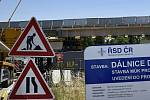 Přestavba dálniční křižovatky Prostějov-střed - červen 2021. Ilustrační foto