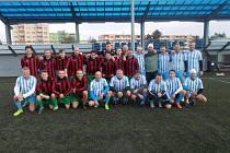V sobotu 16. listopadu si to proti sobě rozdali fotbalisté Hané a tenisté TK Agrofert