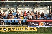 Fotbalisté Prostějova (v modrém) doma zdolali lídra soutěže
