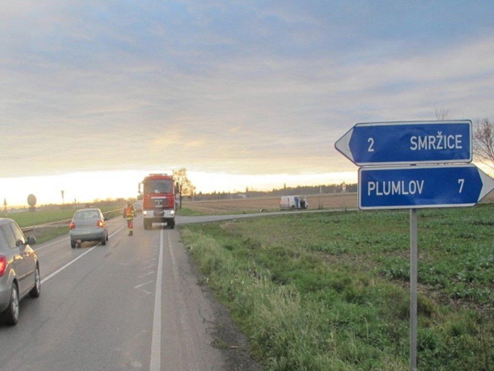 Nehoda mezi Prostějovem a Kostelcem