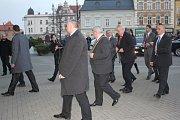 Prezident Miloš Zeman na prostějovské radnici