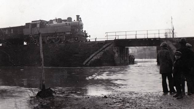 Železniční most nad Broděnkou na trati Prostějov – Nezamyslice.