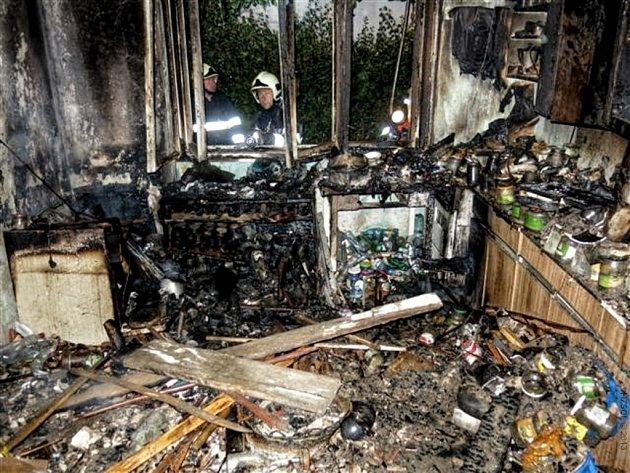 Požár rodinného domu v Krasicích