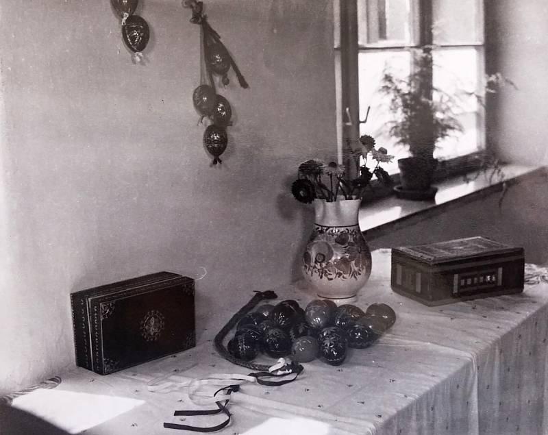 4. Výstava velikonočních kraslic v rámci oslav výročí 400 let povýšení Němčic na městečko vr. 1963.